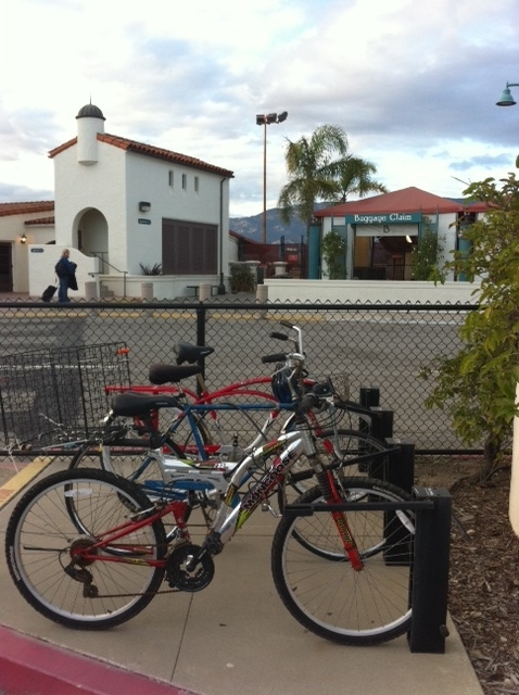 Bike Parking at the Santa Barbara Airport