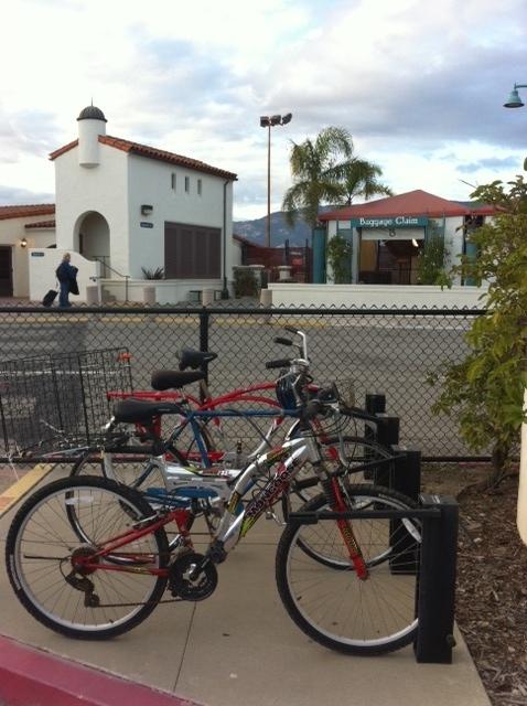 Bike Parking at the Santa Barbara Airport